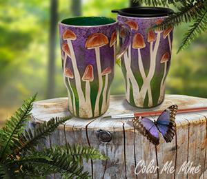 Oakridge Mall Mushroom Mugs