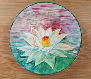 San Jose Lotus Flower Plate