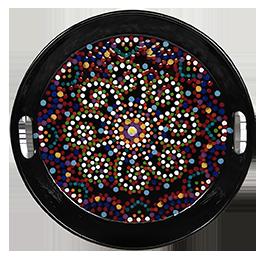 San Jose Mosaic Mandala Tray