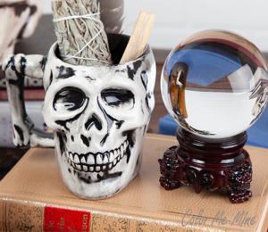 San Jose Antiqued Skull Mug